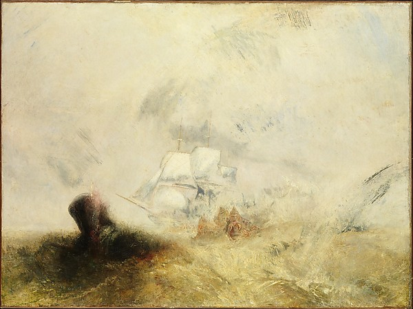 Whalers (ca. l845) by  J.M.W. Turner. (Courtesy the Metropolitan Museum of Art)