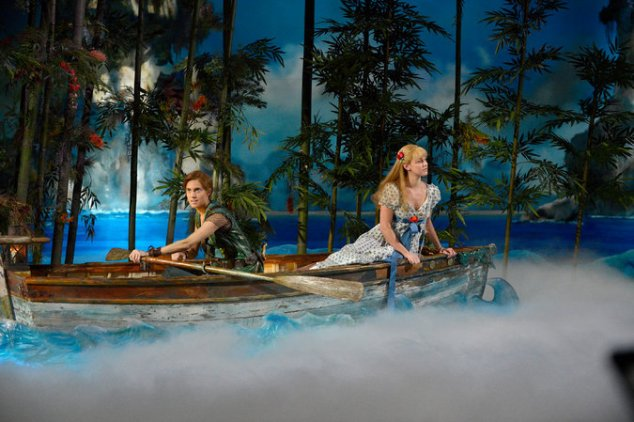 Trying not to sink in Peter Pan Live!. (NBC)