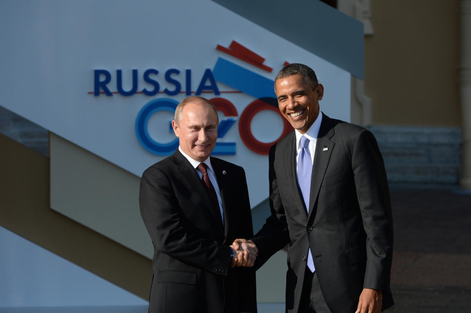 ST. PETERSBURG—Relations between Russia and the US have sunk to new lows. President Putin, shown here hosting President Obama last September, has even expressed his disdain for Coca-Cola. (Photo by Ramil Sitdikov/Host Photo Agency via Getty Images)