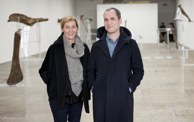 Jennifer Allora and Guillermo Calzadilla at the Fabric Workshop and Museum. (Photo by Constance Mensh)
