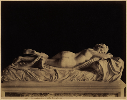 James Anderson, Hermaphrodite, Villa Borghese, 1865 Albumen print. Collection of the Museum of Fine Arts, St. Petersburg, Florida, Gift of William Knight Zewadski. (Courtesy Leslie-Lohman Museum of Gay and Lesbian Art)