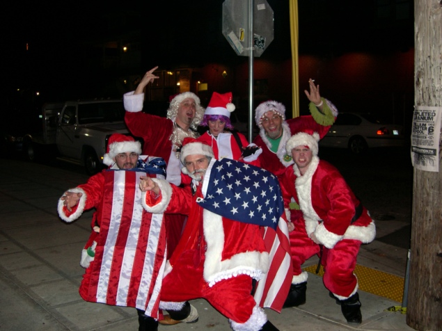 SantaCon revelers will be left out in the cold this year, as fewer bars are participating. (Creative Commons)