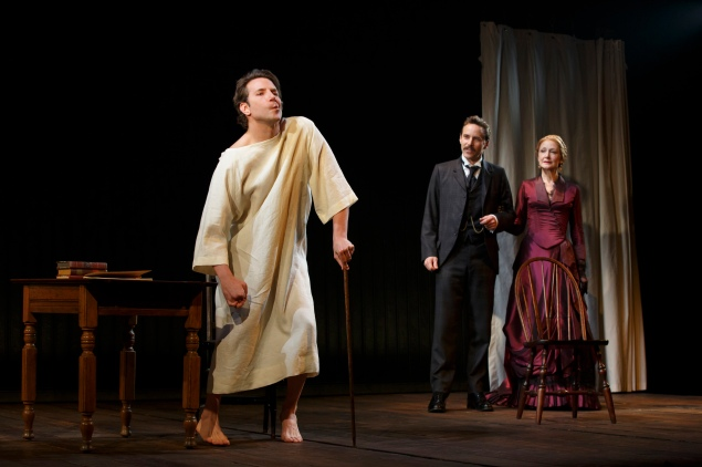 Bradley Cooper, Patricia Clarkson and Alessandro Nivola in The Elephant Man.  (Photo: Joan Marcus)