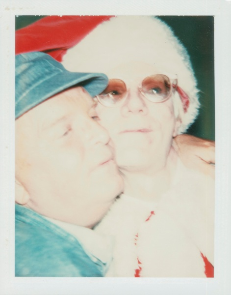 Andy Warhol and Truman Capote Unique polaroid print 4¼ x 3 3/8 in.  Executed circa 1980. (Courtesy of Christies)