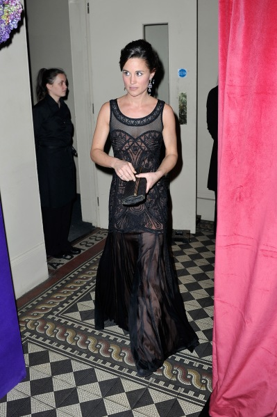 Ms. Middleton on Nov. 20, a few days after the Duchess appeared in floor-length black lace. (Photo via Getty)
