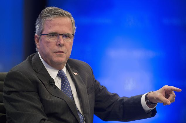 Jeb Bush at the Wall Street Journal CEO Council. (Photo/Jim Watson/AFP/Getty Images)