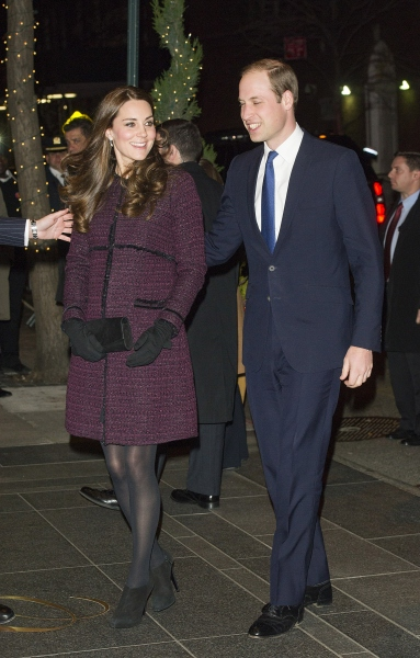 The Duchess and Duke of Cambridge arrive in New York City. (Photo via Getty)