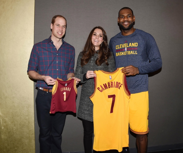 The Royals receive custom jerseys from LeBron James. (Photo via Getty)