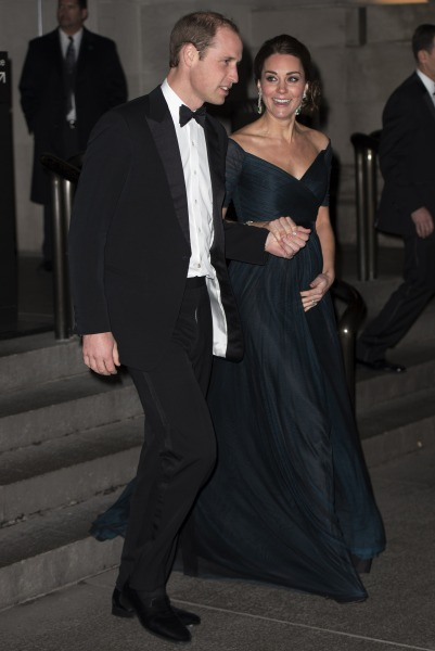 Prince William and the Duchess of Cambridge, at the Metropolitan Museum of Art last night. (Courtesy Getty Images)