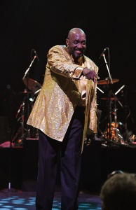 Otis Williams, one of the original Temptations at Broadway's Palace Theatre. (Photo by Andrew H. Walker/Getty Images)