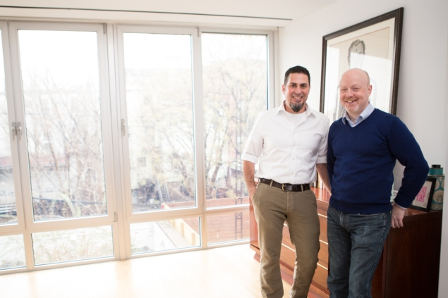 When they lost their condo in Prospect Heights, Luis Martinez and Kieran O'Leary teamed up with another couple to buy a building in Gowanus. (Arman Dzidzovic)