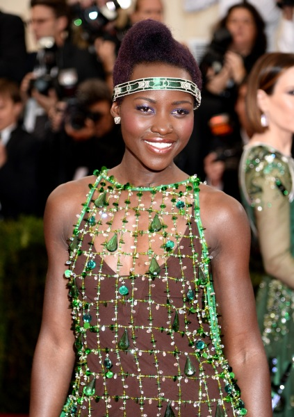 """Lupita Nyong'oattends the """"Charles James: Beyond Fashion"""" Costume Institute Gala at the Metropolitan Museum of Art. (Photo via Getty)"""