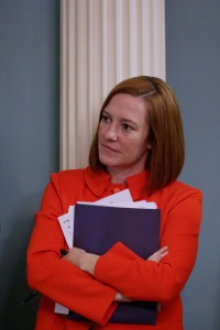 State Department Spokesperson Jen Psaki, pictured here on May 6, 2014 in Washington, DC., has seen her surname turned into a synonym for idiocy. (Photo by Chip Somodevilla/Getty Images)