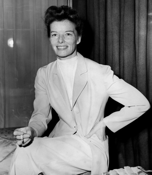 """A portrait shot of Ms. Hepburn when she starred in """"The African Queen."""" (Photo via Getty)"""