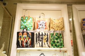 Bags at the Kara Ross x Donald Robertson store event. (Photo by Andrew H. Walker/Getty Images for Kara Ross)