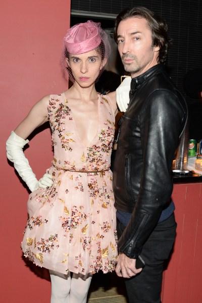 Katalina Sharkey de Solis with Paul O'Regan at Interview Magazine's holiday party, Hotel Americano. (Photo via BFAnyc.com)