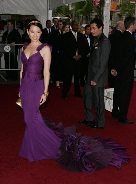 Lucy Liu attends the Metropolitan Museum of Art Costume Institute Benefit Gala in 2007. (Photo via Getty)