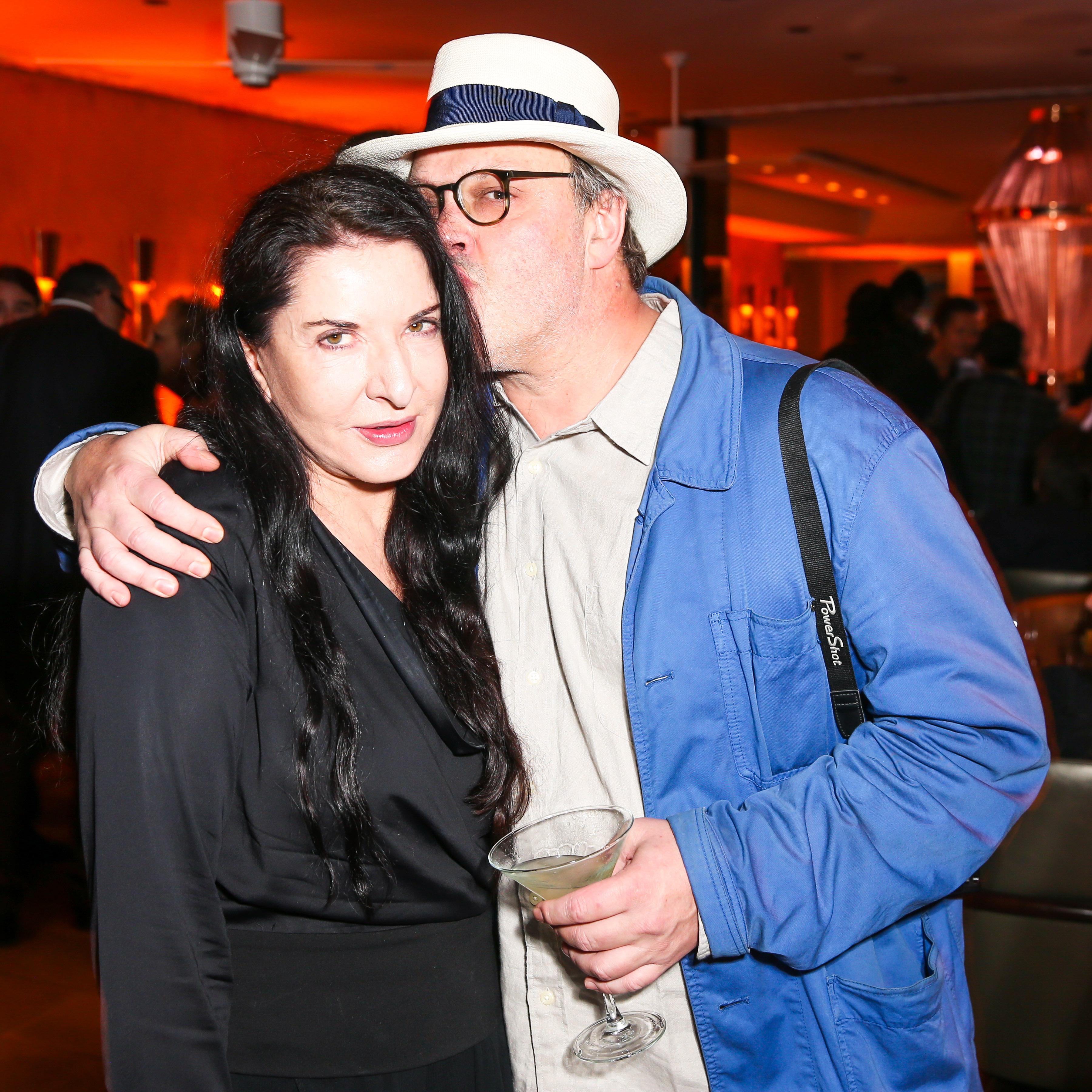 Marina Abramovic and Todd Eberle. (Courtesy Billy Farrell Agency)