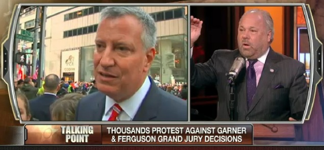 Bo Dietl (right) says he will challenge Mayor Bill de Blasio. (Screengrab: Fox)
