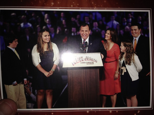 """A picture of last year's """"Christie and family"""" Christmas card, sent to Iowa voters."""