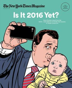 Governor Christie discussed the image that the Times magazine used for its recent cover story on him.