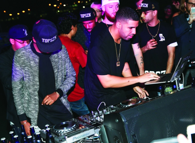 Drake, on the ones and twos. (Photo by David X Prutting/BFAnyc.com)