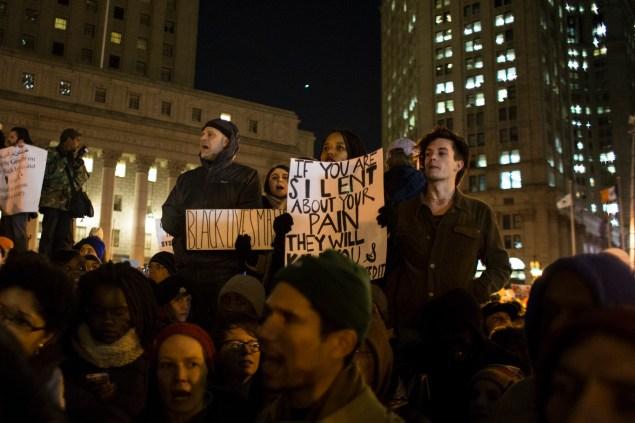 A recent Manhattan protest against the Eric Garner grand jury decision. (Photo: Daniel Cole)