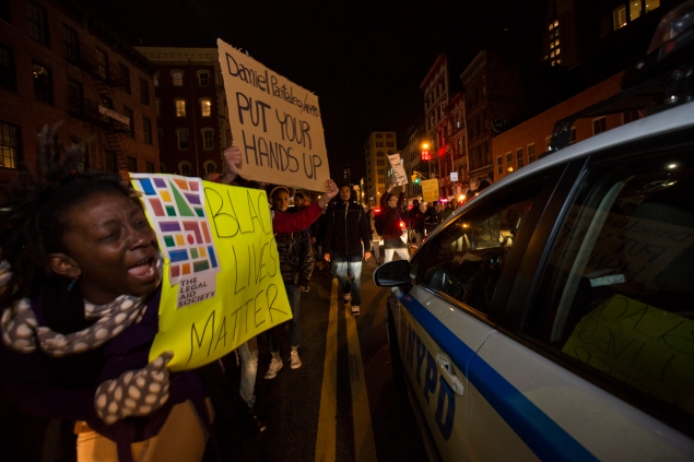 Protests erupted after the Eric Garner grand jury decision. (Photo: Daniel Cole/New York Observer)