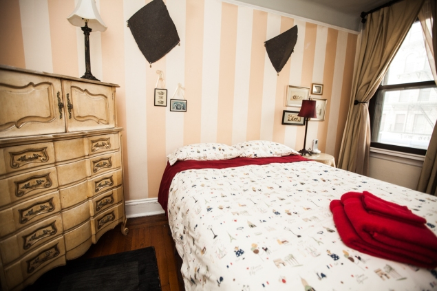 3rd floor guest bedroom - Manhattan BnB owner Anne Edris, her dog Mango, and her Avenue C BnB that had recently been forced into closure. PHOTO: Emily Assiran/New York Observer