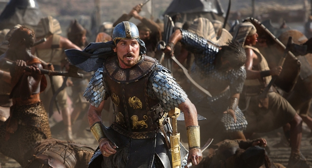 Christian Bale in Exodus.