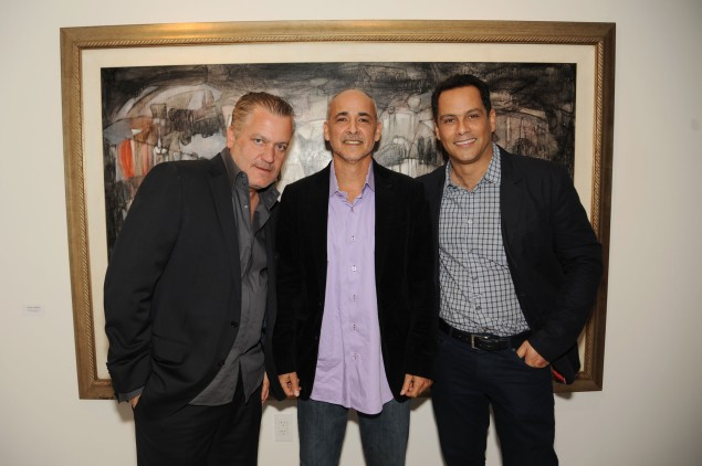 Francois Frossard, Maximo Caminero, Jose Sanchez at the debut of FFD's new office and showroom in Miami's Wynwood Arts District. (Photo courtesy worldredeye.com)