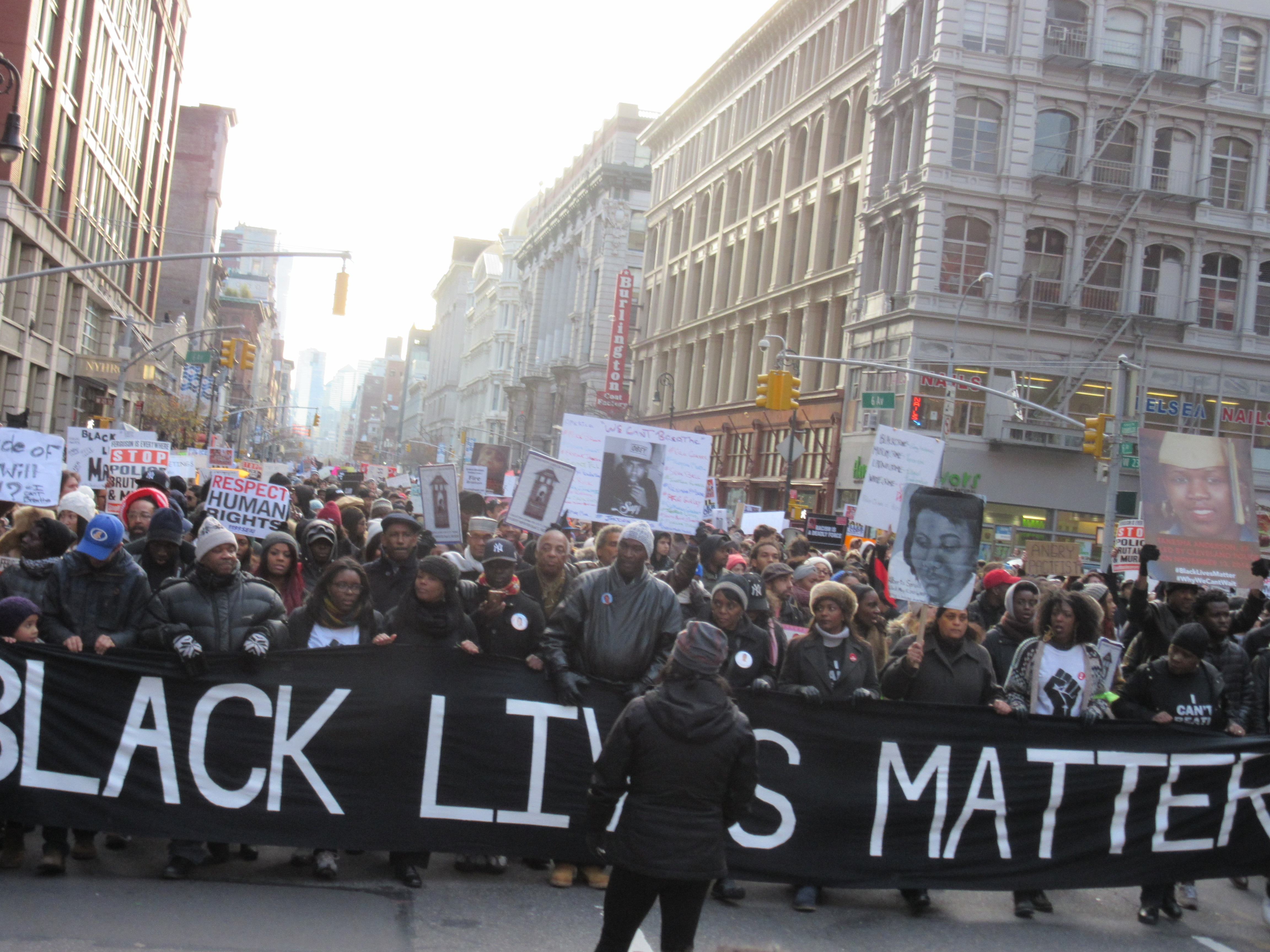The families of Ramarley Graham and Kimani Gray led the Millions March (Photo: Will Bredderman).
