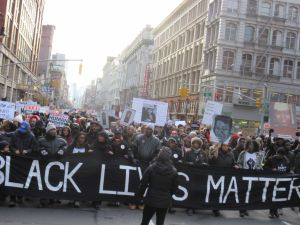 Millions March protesters (Photo: Will Bredderman for Observer).