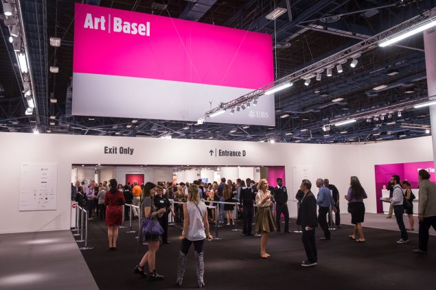 The main entrance at Art Basel Miami Beach.