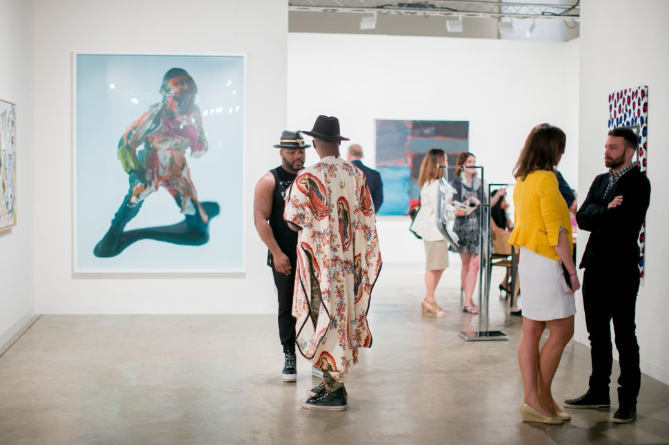 The atmosphere at the main fair, located at the Miami Beach Convention Center. (Photo courtesy Art Basel)