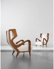 Gio Ponti pair of wingback chairs, 1947, sold for $218,500, four times estimate.