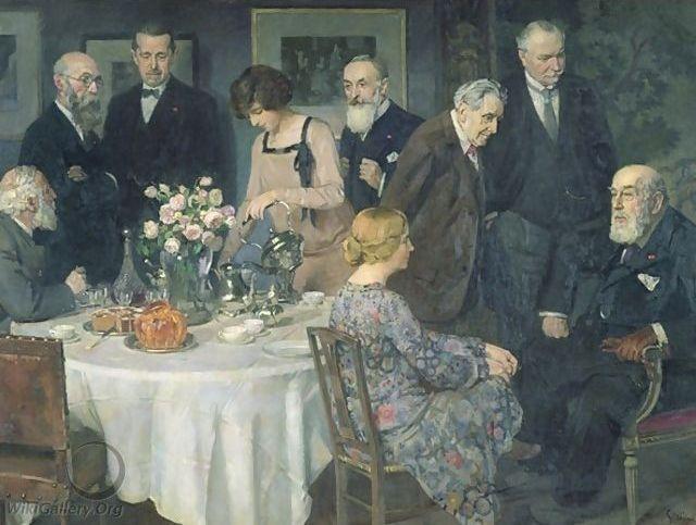 """Grün's """"A Group of Artists."""""""
