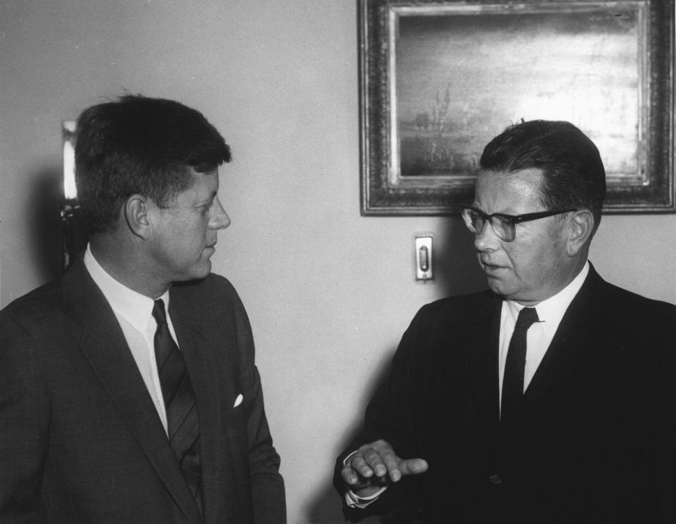 New Jersey Gov. Richard J. Hughes with political ally JFK.