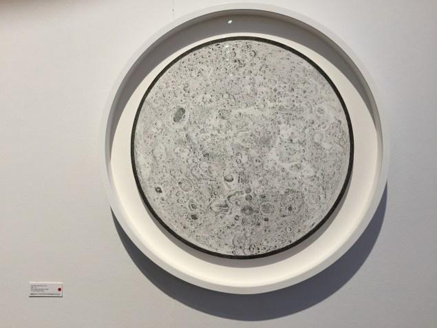 Planetary drawings by Mia Rosenthal at Gallery Joe.