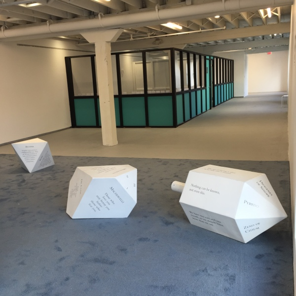 Pedro Reye's Sanatorium is split into several treatment rooms. Seen here are the giant dice from The Philosophical Casino. (Photo by Alanna Martinez)