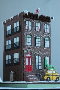 A gingerbread brownstone. (Courtesy Baked Ideas)