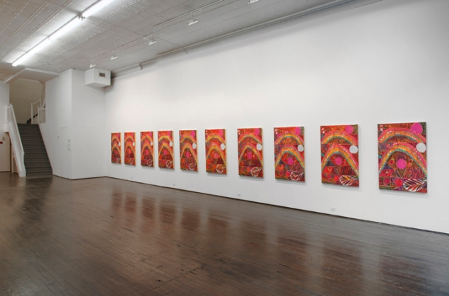 Installation view of Alexander Tovborg's Eternal Feminine (2014). (Courtesy Nicelle Beauchene)