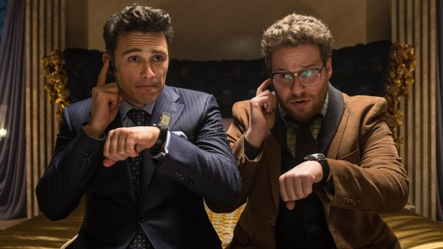 James Franco, left, and Seth Rogen star in The Interview.