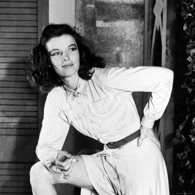 Ms. Hepburn in a dress similar to the one worn by Ms. Adams. (Photo via http://muzzierae.wordpress.com/)