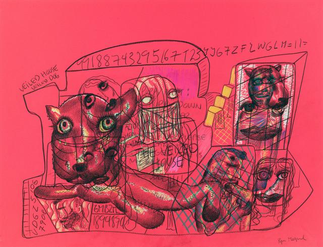 Bjarne Melgaard, Untitled (Veiled House), 2014. Rod Bianco Gallery, Booth 4.08 at NADA Miami Beach. (Courtesy Rod Bianco Gallery via Artsy.net)