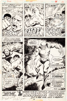 Herb Trimpe and Jack Abel The Incredible Hulk #180 Final Page 32. (Image courtesy Heritage Auctions_)