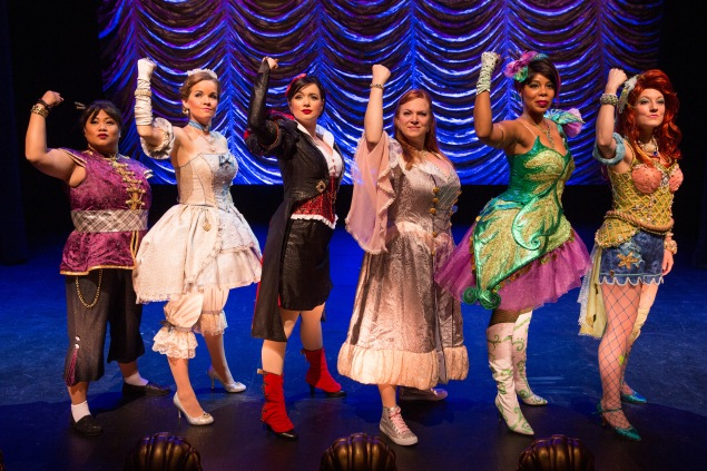 Lulu Picart, Becky Gulsvig, Michelle Knight, Jen Bechter, Soara-Joye Ross and Alison Burns in a scene from DISENCHANTED!