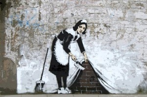 Maid in London by Banksy