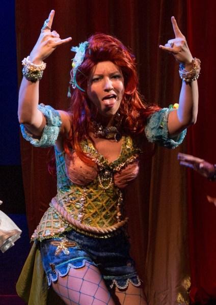Alison Burns as The Little Mermaid.
