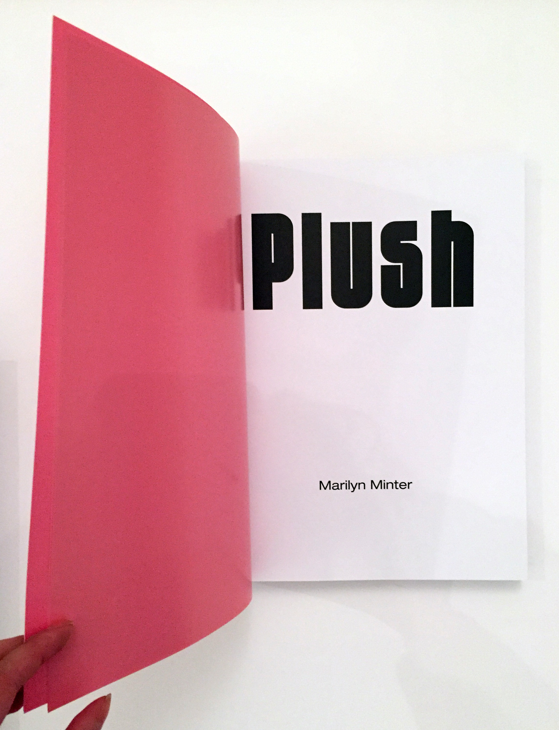 The title page of Plush. (Courtesy the artist and Fulton Ryder)